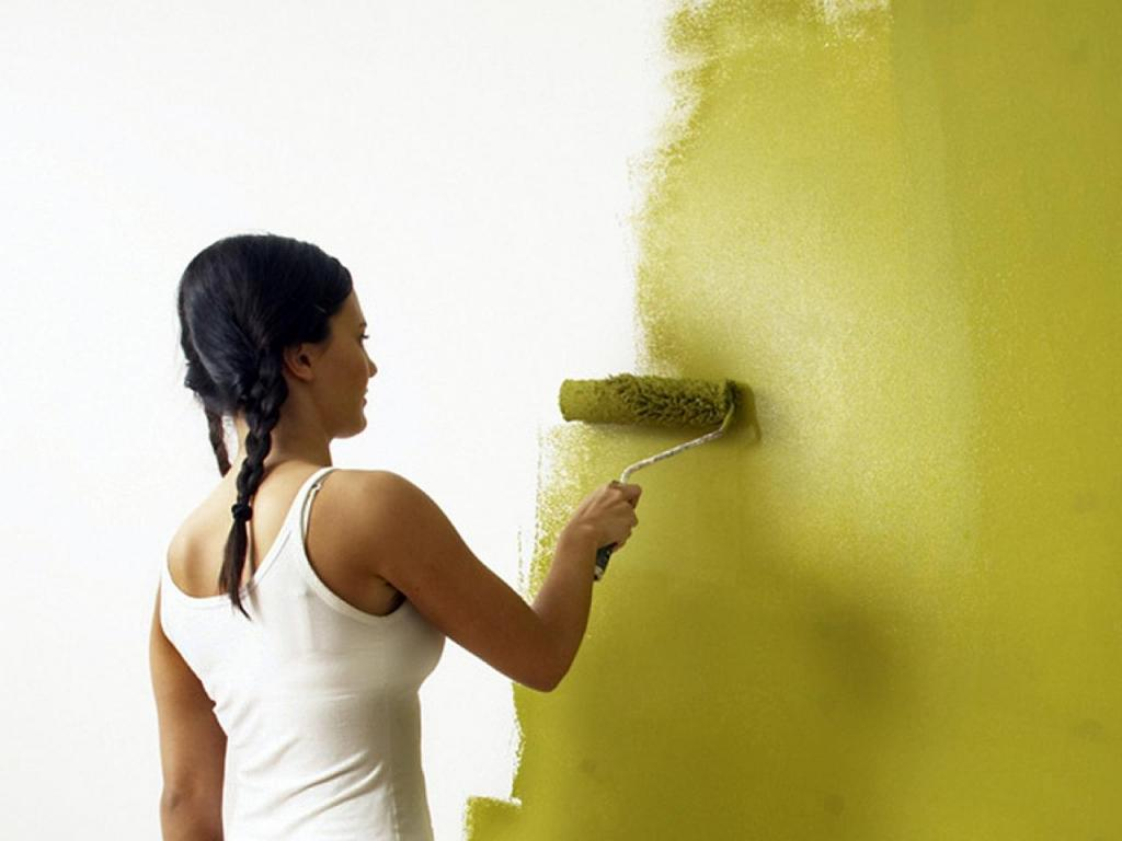 Painting the walls with paint