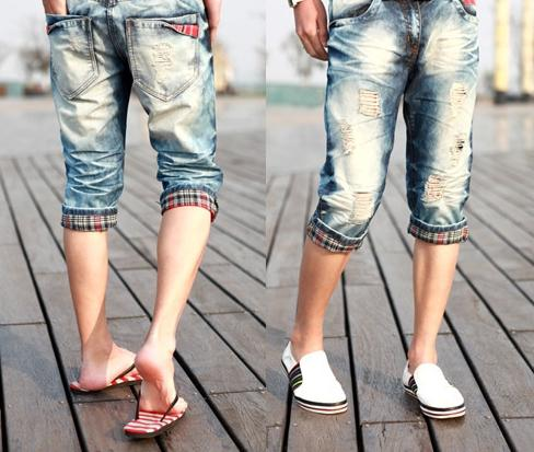 Бриджи из джинс своими руками фото