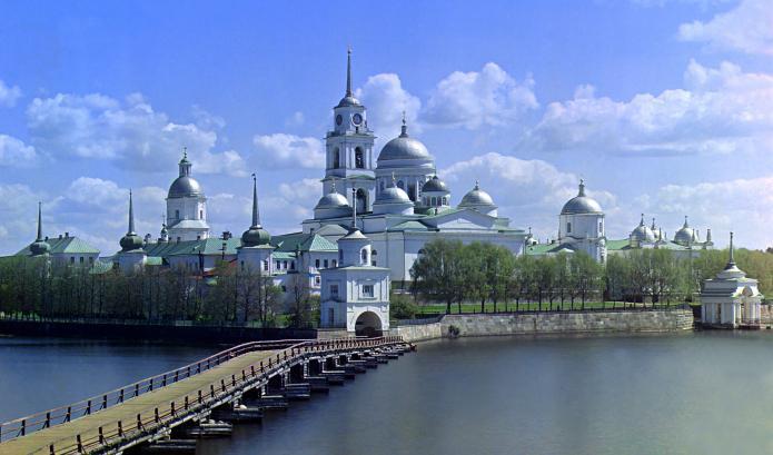 Озеро Селигер на карте России