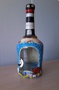 декупаж бутылки салфетками