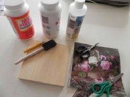 декупаж салфетками инструменты и материалы