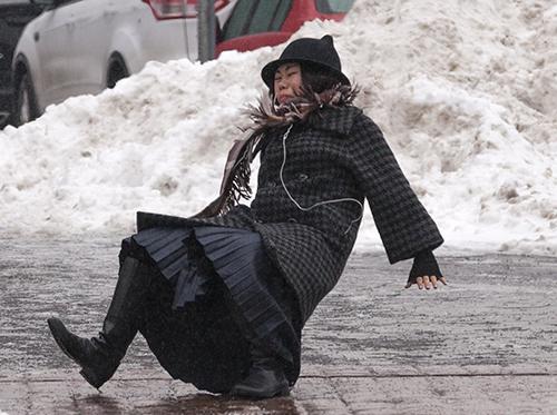 гололед зимой
