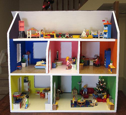 Дом для кукол своими руками из фанеры фото 495