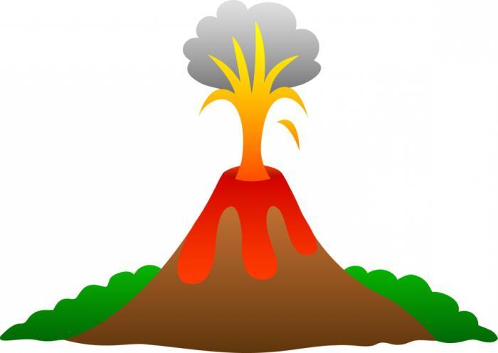 как сделать извержение вулкана