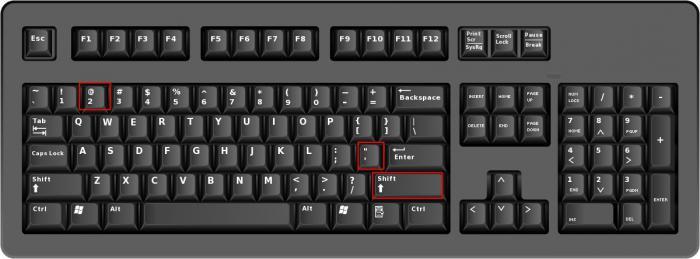 Как поставить кавычки на клавиатуре