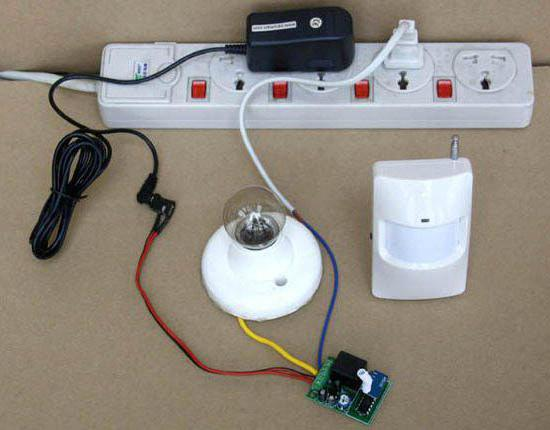 Как установить датчик движения с лампой Светодиодная