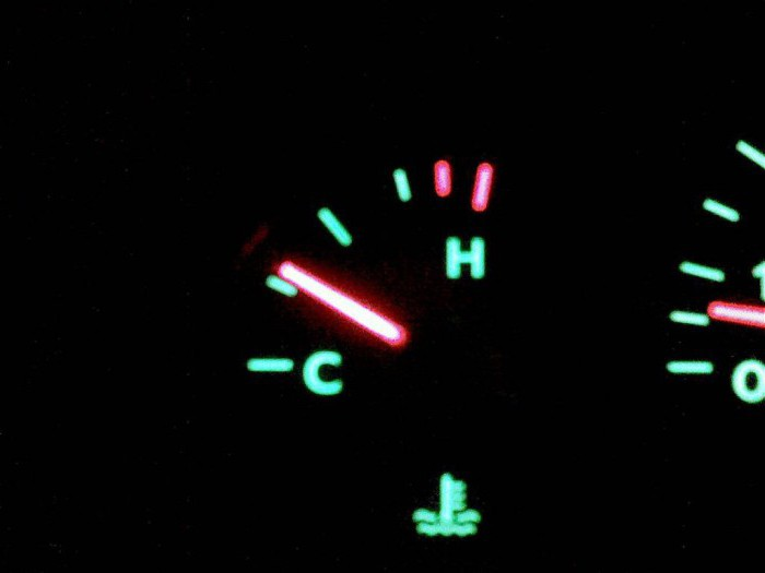 1187530 - Температура двигателя падает во время движения