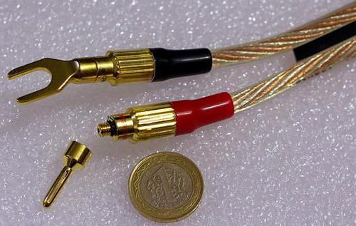 подключение акустического кабеля к колонкам