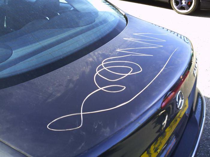средство для удаления царапин с кузова автомобиля