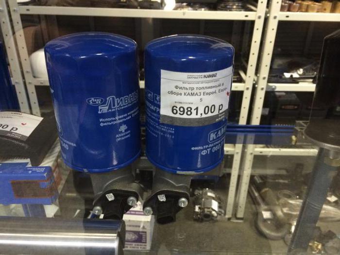 Сколько топливных фильтров на камазе
