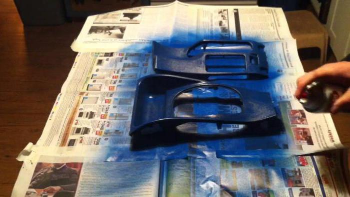 покраска пластика салона автомобиля