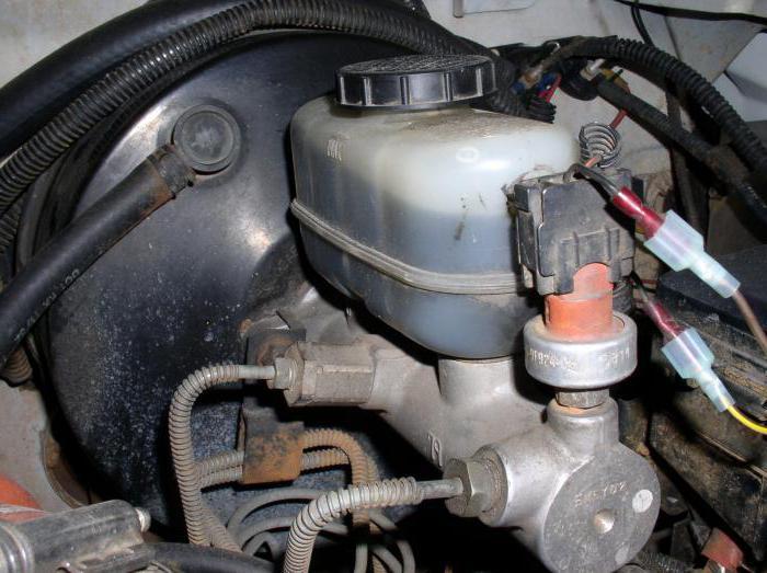 неисправности главного тормозного цилиндра