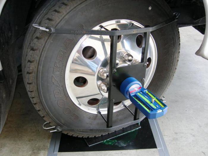 стенд для регулировки развала схождения колес