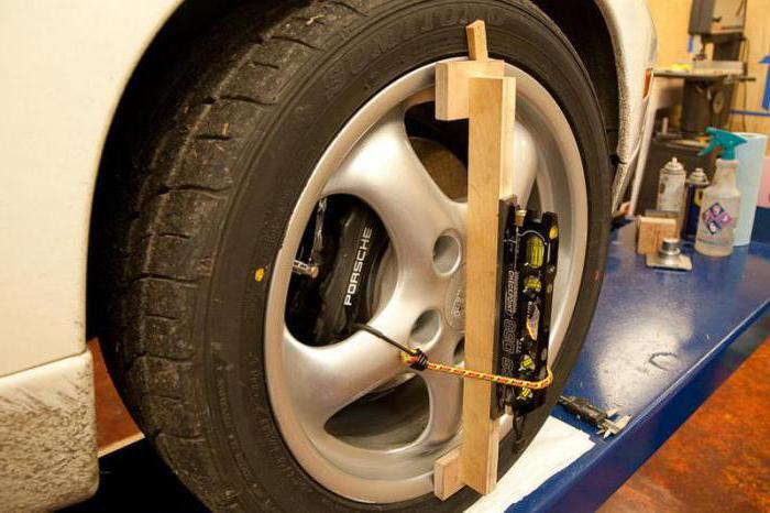 регулировка углов развала схождения колес