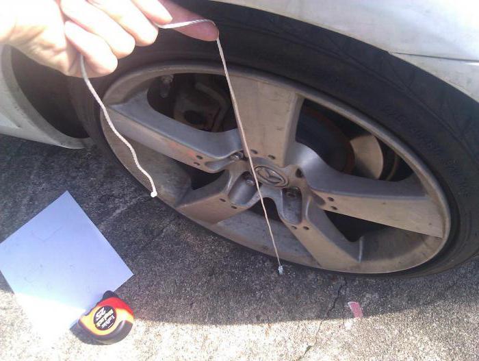 регулировка развала схождения передних колес