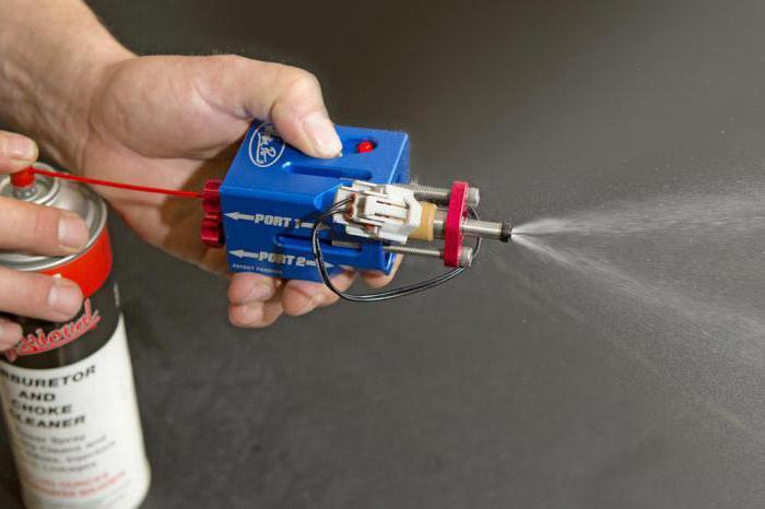 Промывка форсунки ацетоном своими руками