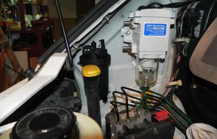 Фильтр-сепаратор для дизельного топлива: конструкция