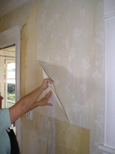 как снимать со стен виниловые обои