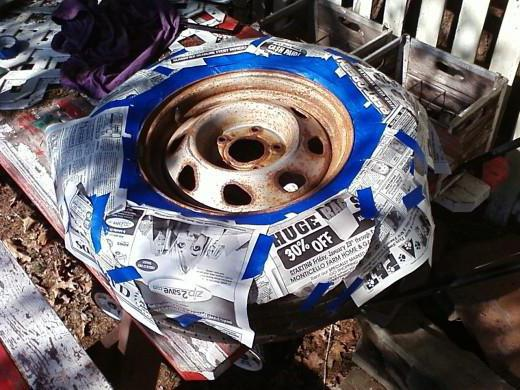 быстрый способ покраски дисков штамповок