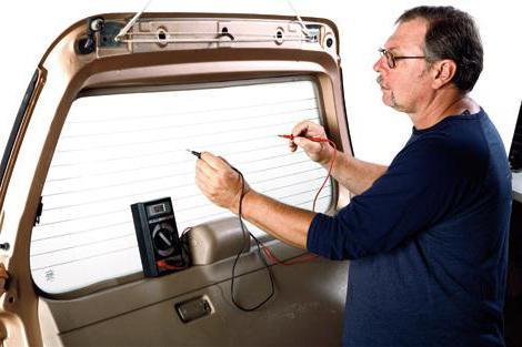 ремонт нитей и контактов обогрева заднего стекла