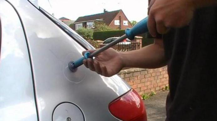 Вытягивание вмятин на автомобиле своими руками