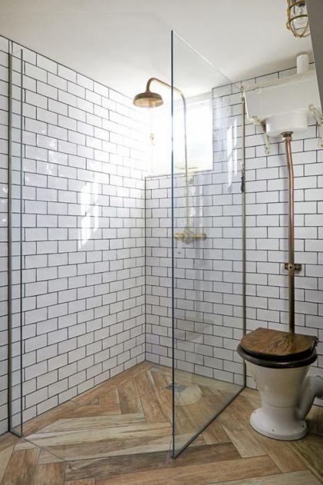плитка под дерево в ванной фото
