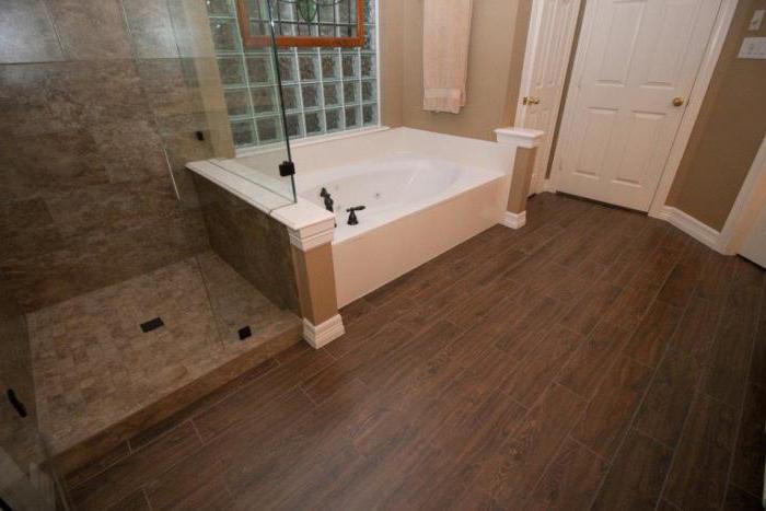 дизайн ванных комнат плитка под дерево