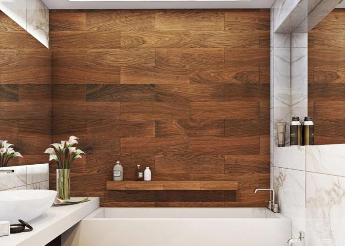 плитка под дерево для ванной