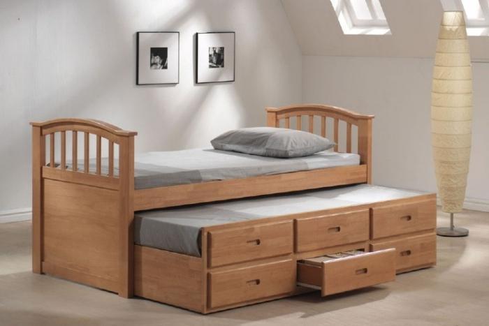 двухъярусная выдвижная кровать