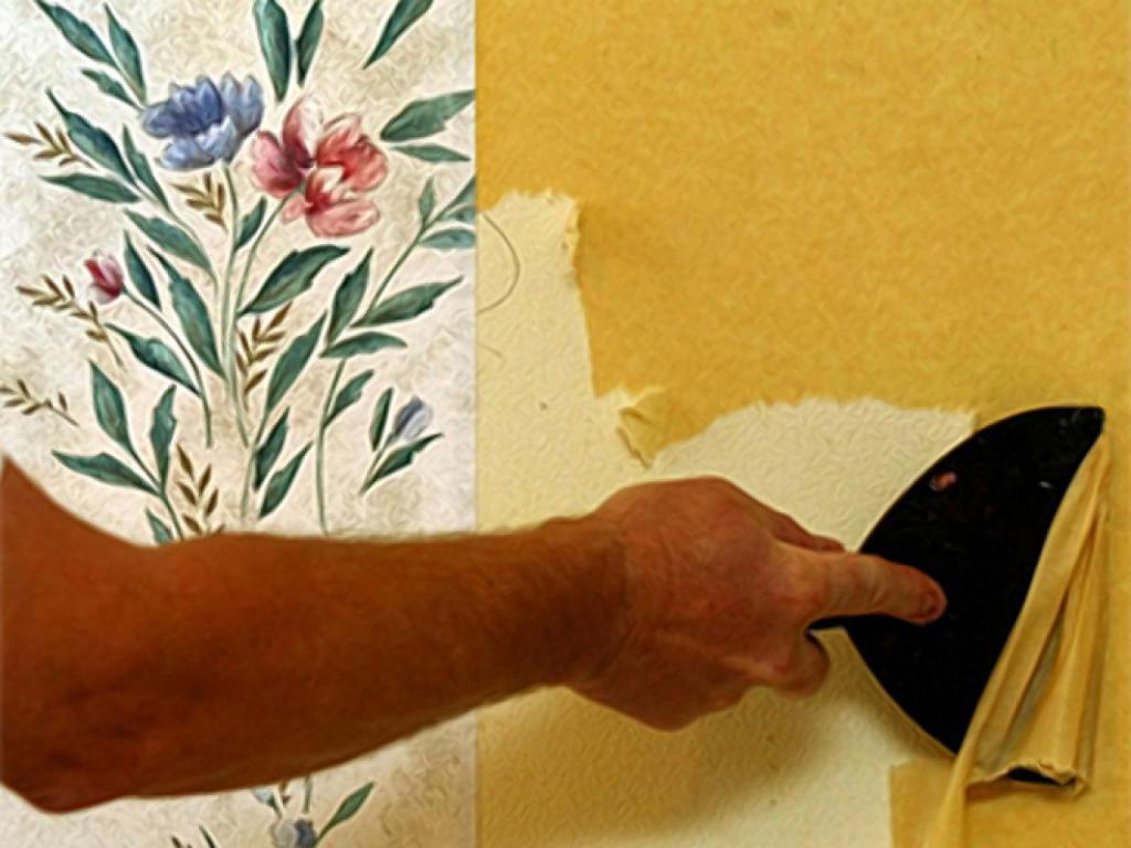 Как снять жидкие обои со стен в домашних условиях