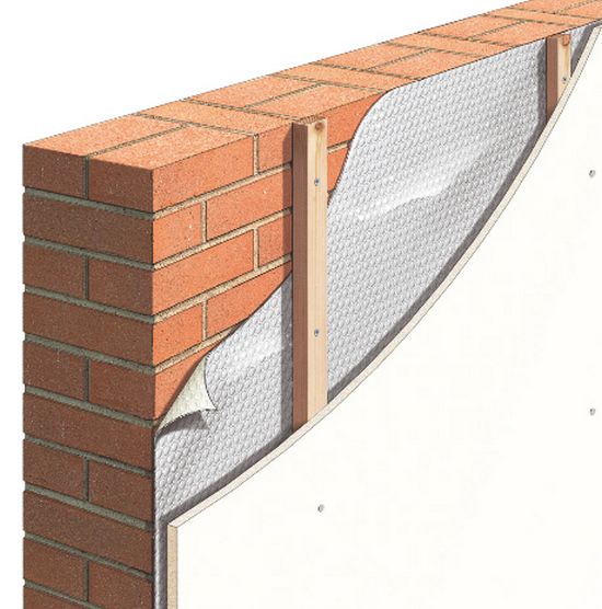 how to warm the brick walls of the house