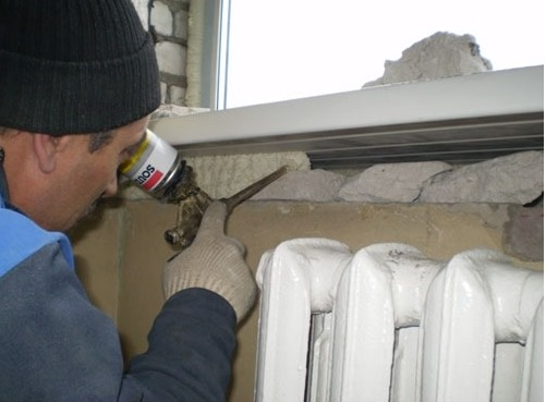 install slopes on pvc windows