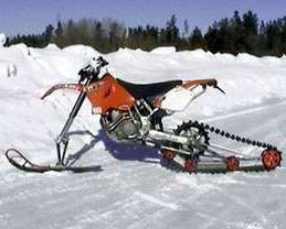 самодельный снегоход на гусеницах