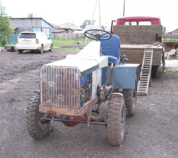 самодельный трактор с ломающейся рамой