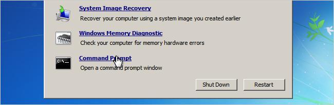 удалить пароль Windows 7