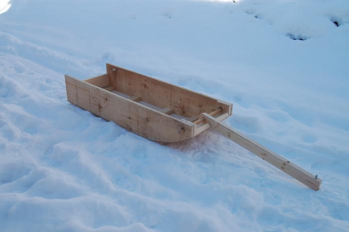 самодельные сани для снегохода