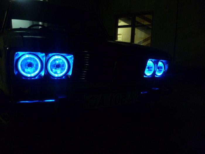 ангельские глазки на ВАЗ 2106