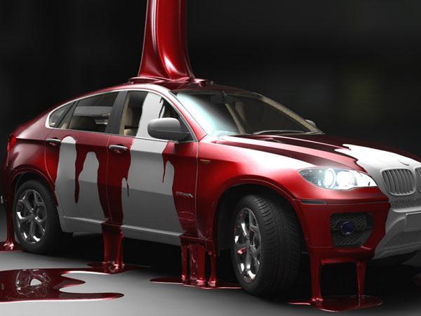 локальная покраска детали автомобиля