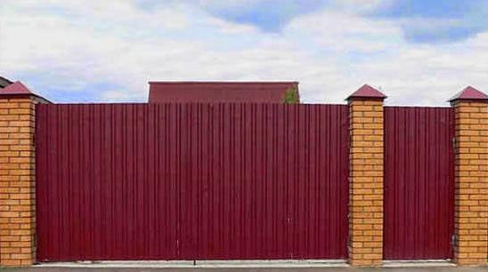 откатные ворота из профнастила своими руками без привода