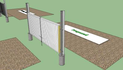 как сделать откатные ворота из профнастила