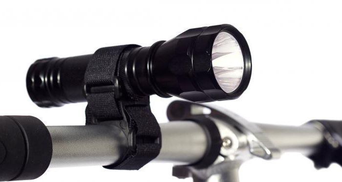 держатель для фонарика на велосипед