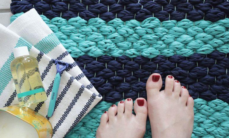 Коврик из ткани своими руками: пошаговая инструкция с фото