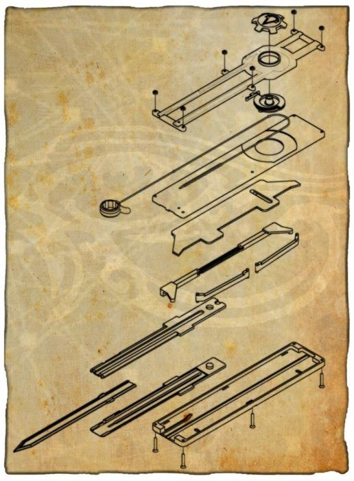 Как сделать клинок ассасина из бумаги схемы
