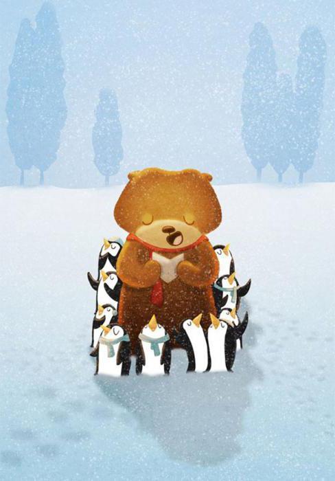 рисование животные зимой в старшей группе