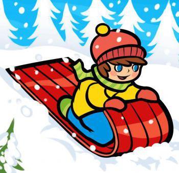 рисование на тему зима