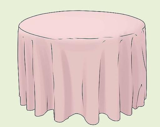 сшить скатерть на круглый стол