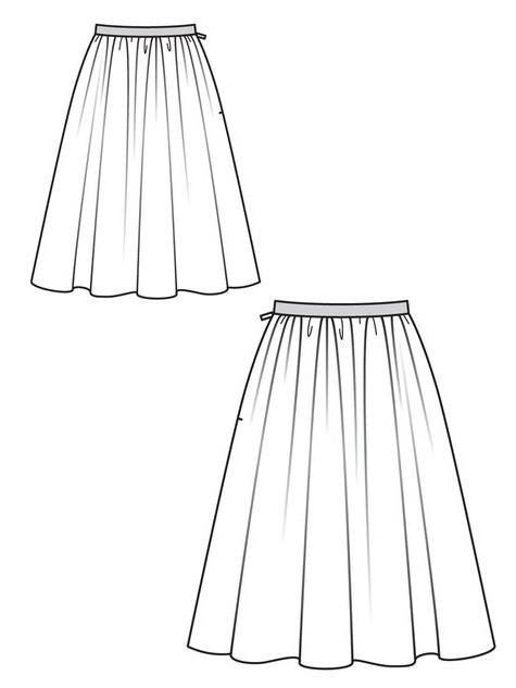 как сшить юбку колокол выкройка