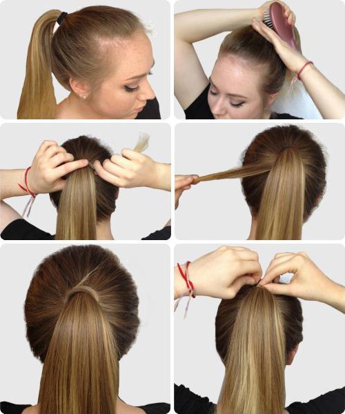 Быстрые прически на длинные волосы в школу своими руками