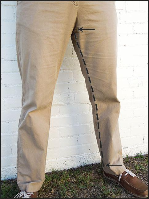 как ушить брюки внизу