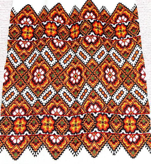 украинская вышивка крестом